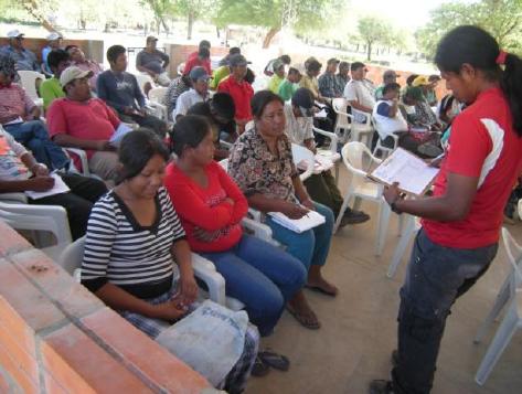 Uso del Centro Comunitario por Líderes y Lideresas de toda la Cuenca del Pilcomayo.