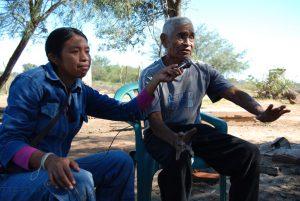 La colecta de testimonios de la historia de los nivaclé fueron grabados por los propios indígenas.